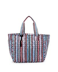 LeSportsac | Blue Claudia Stripe Quilted Large Tote | Lyst