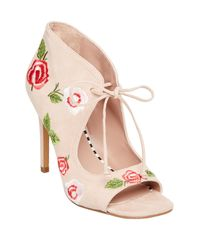 Betsey Johnson - Pink Carolin Embroidered Pump - Lyst