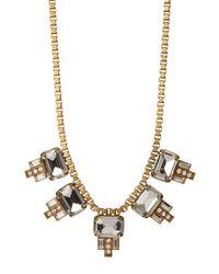 Loren Hope - Metallic Alex Emerald Cut Charm Box Chain Necklace - Lyst