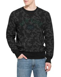 47 Brand - Black 'new York Jets - Stealth' Camo Crewneck Sweatshirt for Men - Lyst