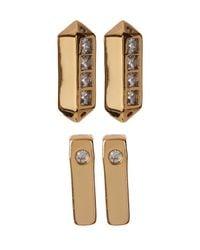 BaubleBar | Metallic Ice Bar Acrylic Accent Stud Earrings - Set Of 2 | Lyst