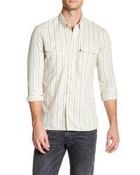 Levi's | White Selvedge Jackson Stripe Long Sleeve Shirt for Men | Lyst