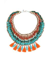 Panacea - Blue Bright Festival Coral And Turquoise Statement Necklace - Lyst
