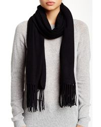 Portolano | Wool Cashmere Loop Scarfblack | Lyst