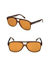 f65b06c9c965f Lyst - Céline C line 62mm Oversize Aviator Sunglasses in Brown