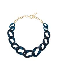 BaubleBar | Blue Porto Link Necklace | Lyst