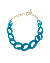 BaubleBar | Blue Porto Link Necklace | Lyst