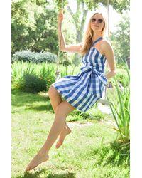 Draper James - Blue Mary Beth Cotton Sundress - Lyst