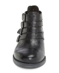 Bella Vita - Black 'Ronan' Buckle Leather Bootie - Lyst