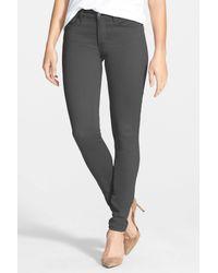 NYDJ | Gray Alina Colored Stretch Skinny Jean | Lyst