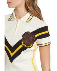 PUMA - White Jersey Polo Dress - Lyst