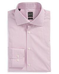 Ike Behar - Pink Solid Chambray Dress Shirt for Men - Lyst