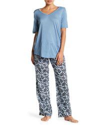 Joe Fresh - Blue Drawstring Pajama Pants - Lyst