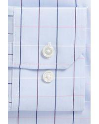 Bonobos Blue Jetsetter Slim Fit Stretch Check Dress Shirt for men
