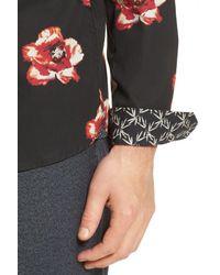 Ted Baker - Blue Lilky Trim Fit Floral Sport Shirt for Men - Lyst