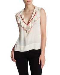 Plenty by Tracy Reese | White Beaded Trim Blouse | Lyst