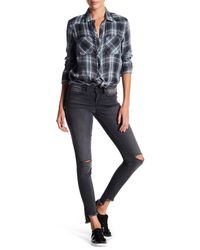 William Rast - Blue Raw Step Hem Perfect Skinny Jeans - Lyst
