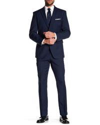 Perry Ellis - Blue Navy Two Button Notch Lapel Slim Fit Suit for Men - Lyst