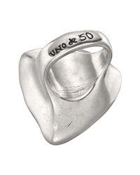 Uno De 50 - Micron Silver Star-tremendous Trillion-cut Brown Swarovski Crystal Ring - Lyst
