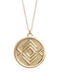 House of Harlow 1960 - Metallic Crystal Pendant Necklace - Lyst