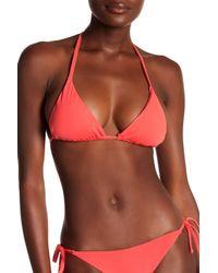 Becca - Red Color Code Triangle Bikini Top - Lyst