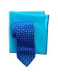 Ted Baker - Blue Large Dots Silk Tie & Pocket Square Set for Men - Lyst