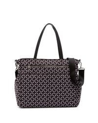 MILLY - Black Printed Leather Diaper Bag - Lyst