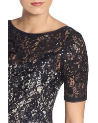 Adrianna Papell - Multicolor Sequin Lace Gown - Lyst