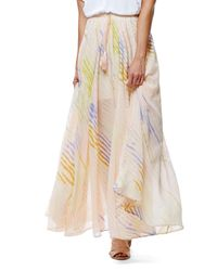 Free People | White True To You Maxi Skirt | Lyst