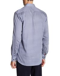 Lindbergh Blue Printed Modern Fit Shirt for men