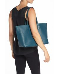 Tory Burch - Blue 'perry' Leather Tote - Lyst