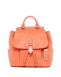 c42bafded852 Lyst - MICHAEL Michael Kors Romy Medium Leather Backpack in Orange