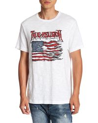 True Religion - White Land Of The Free Graphic Short Sleeve Tee for Men - Lyst
