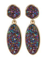 BaubleBar - Multicolor Druzy Statement Drop Earrings - Lyst