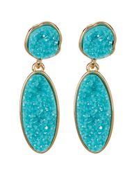 BaubleBar - Blue Druzy Statement Drop Earrings - Lyst