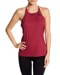Adidas - Red Performance Step-up Tank Top - Lyst
