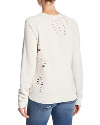 Black Orchid - Gray Raglan Side Zip Sweatshirt - Lyst