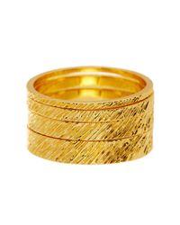 Gorjana - Metallic Knox Stacking Ring Set - Size 6 - Lyst