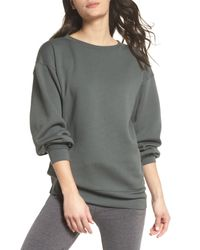 Zella - Gray Boxy Crop Sweatshirt - Lyst