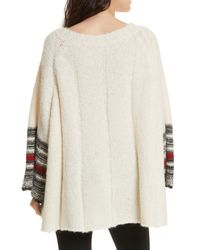 Free People - White Last Rose Sweater - Lyst