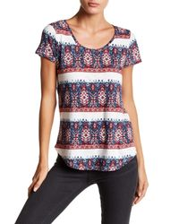 Lucky Brand - Blue Painted Border Tee - Lyst
