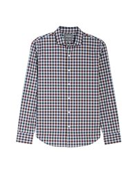 Bonobos | Blue Unbutton Down Slim Fit Check Sport Shirt for Men | Lyst
