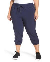 Zella - Blue Out & About Crop Jogger Pants - Lyst