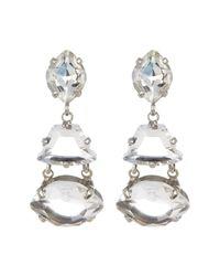 Sorrelli - Multicolor Crystal Geometry Drop Earrings - Lyst
