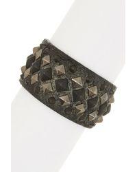 Frye - Gray Deborah Leather Deco Cuff - Lyst