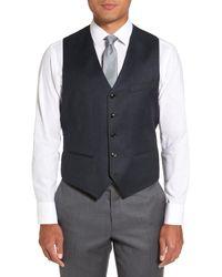 Ted Baker - Blue Troy Trim Fit Solid Wool Vest for Men - Lyst