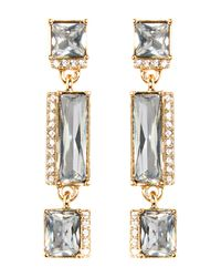Vince Camuto - Metallic Pave & Faceted Crystal Linear Drop Earrings - Lyst