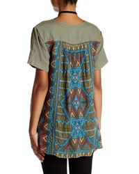 Johnny Was - Green Embroidered Back Linen Blouse - Lyst