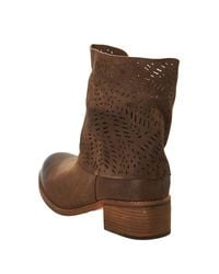 Antelope - Brown Mid Shaft Contrast Boot - Lyst