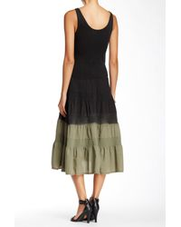 Luna Luz - Black Sleeveless Dip Dye Dress - Lyst